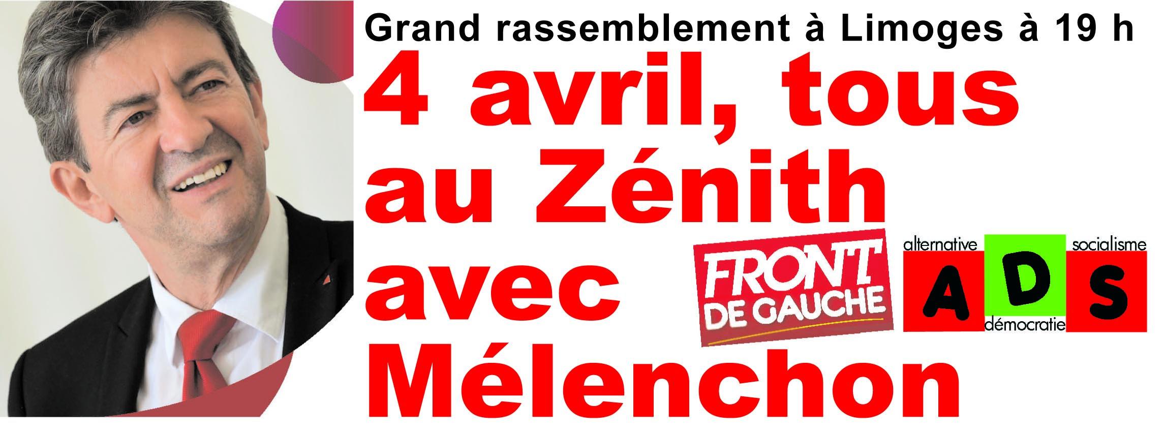 Pour se rendre au meeting du 4 avril au Zénith de Limoges avec Jean-Luc Mélenchon : plus de 30 cars dans Actu zenith